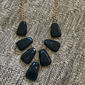 Blue Stone Statement Necklace